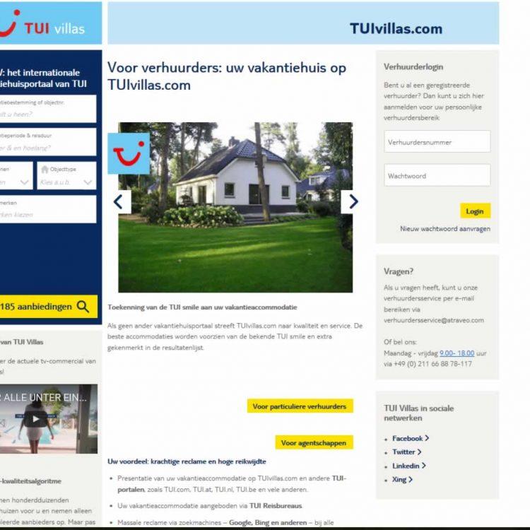 TUI verhuurt nu ook vakantiewoningen   TUIvillas.com